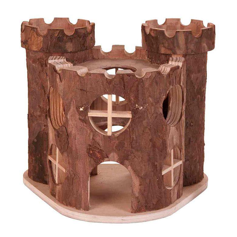 Castillo de madera 17x15x12cm