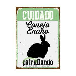 Cartel 'Conejo Enano Patrullando'
