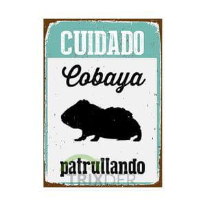 Cartel 'Cobaya Patrullando'