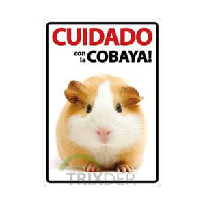 Cartel 'Cuidado con la Cobaya'