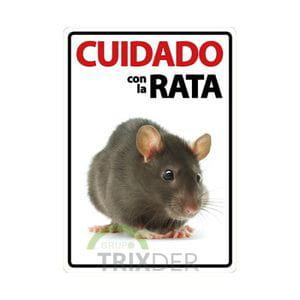 Cartel 'Cuidado con la Rata'