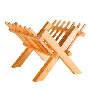 Pesebre de madera para heno y verduras 23x26x17cm