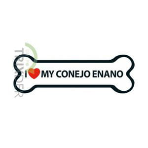 Imán 'I Love my Conejo Enano'