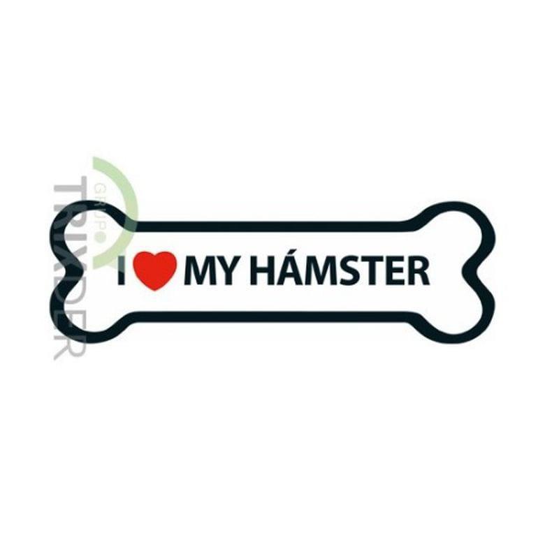 Imán 'I Love my Hámster'