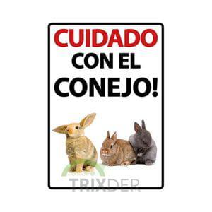 Cartel 'Cuidado con el Conejo'