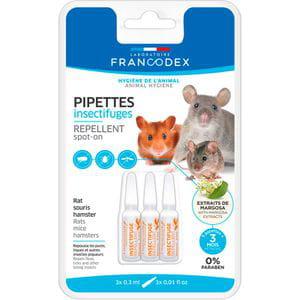 Pipetas repelentes - Hámster, Rata y Ratón