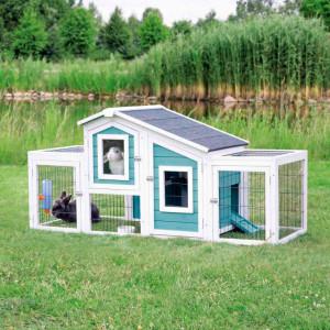 Recinto de exterior azul 168x81x72cm
