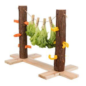 Árbol de alimentación y juegos doble